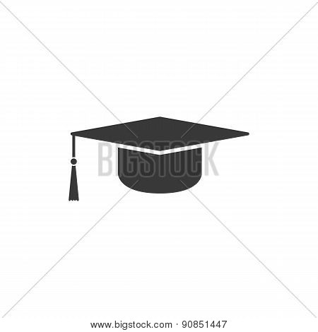 The Graduation Cap Icon. Education Symbol