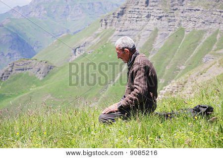 Praying Man Kneeling