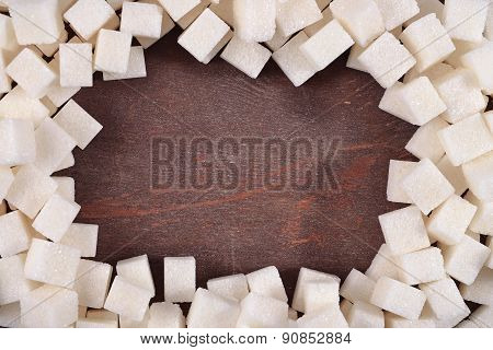 Frame Of Refined Sugar