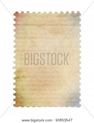 Blank post stamp