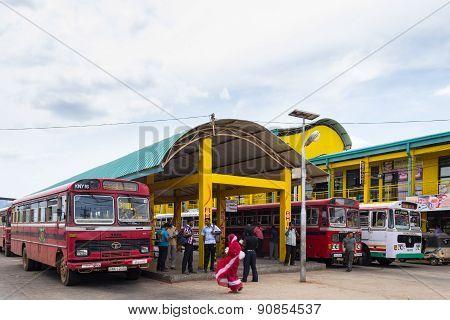 Bus Station In Trincomalee, Sri Lanka