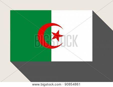 Algeria flag in flat web design style.