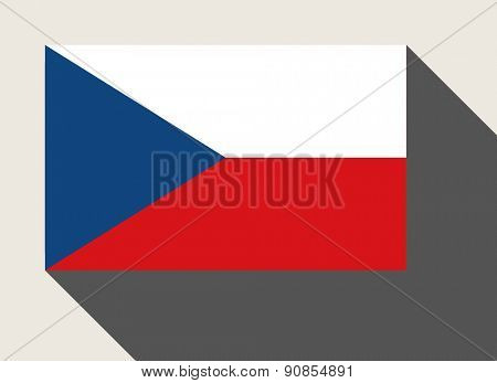 Czech Republic flag in flat web design style.