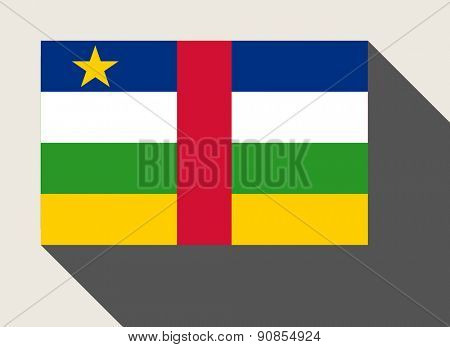Central African Republic flag in flat web design style.
