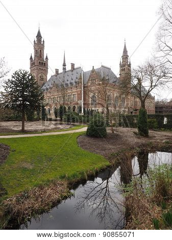 The Peace palace and gardens