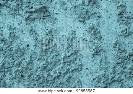 Bumpy Texture Of Blue Color Cement Surface