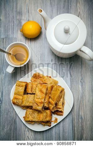 Tea-drinking With Apple Pie