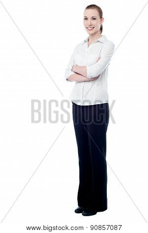 Confident Business Woman Posing