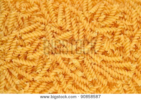 Italian Pasta Fusilli Background.