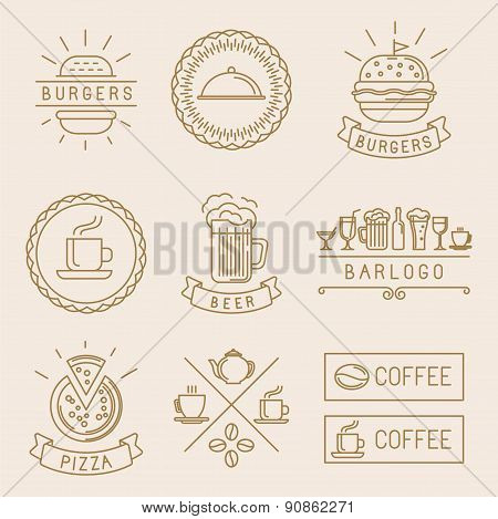 Vector Linear Food Labels
