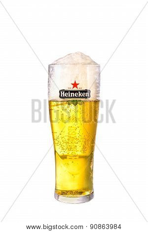 Sydney, Australia - May 19, 2015: A Glass Of Beer Heineken Lager.