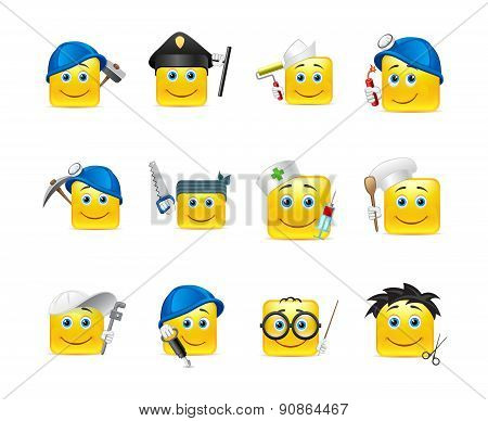 Smilies Different Professions
