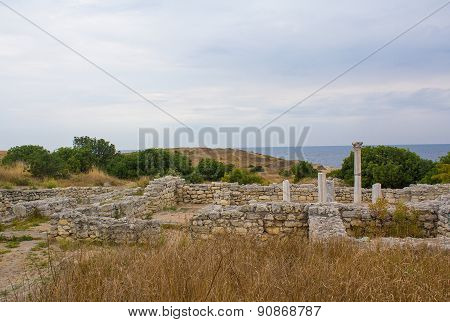 Ancient Greek Chersonesus Taurica Near Sevastopol In Crimea