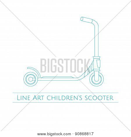 Line Art Childrens Scooter Two
