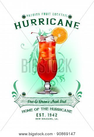 Hurricane Cocktail NOLA Collection