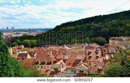 Urban landscape of Prague.