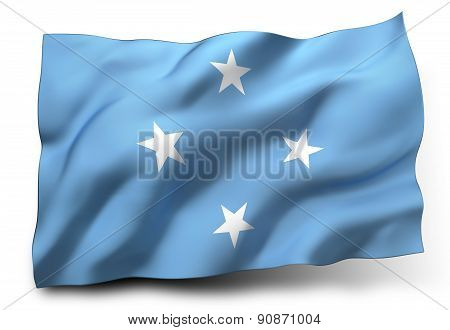 Flag Of Federated States Of Micronesia