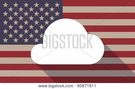 Usa Flag Icon With A Cloud