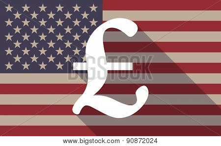 Usa Flag Icon With A Pound Sign