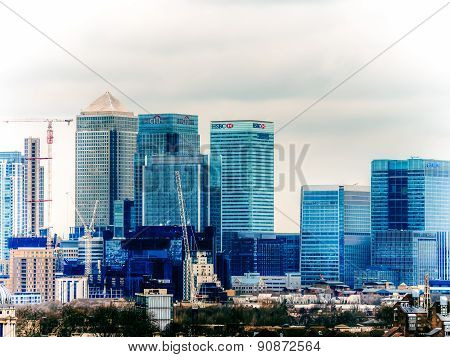 London, Uk - 16Th February 2015: Canary Wharf Buildings In London