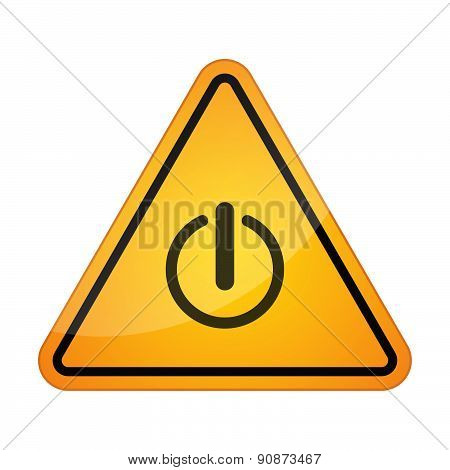 Danger Sign Icon With An Off Button