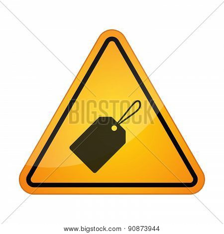 Danger Signal Icon With A Product Label