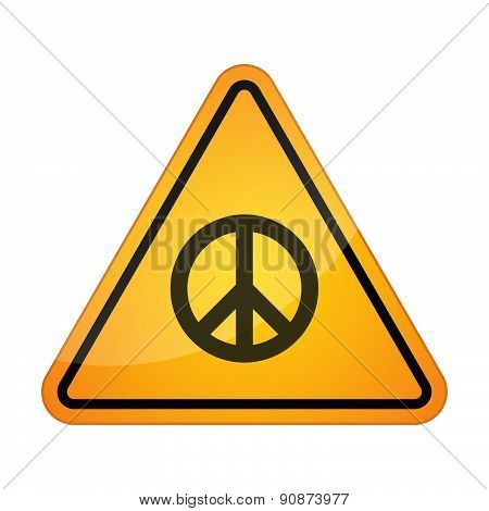 Danger Signal Icon With A Peace Sign