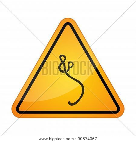 Danger Signal Icon With An Ebola Sign