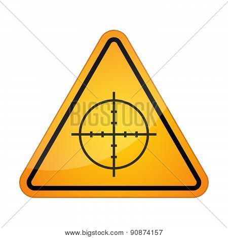 Danger Signal Icon With A Crosshair