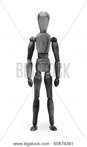 Wood Figure Mannequin With Bodypaint - Black