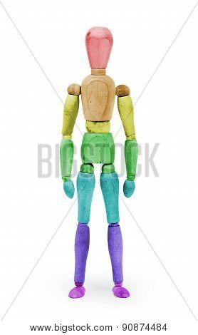 Wood Figure Mannequin With Bodypaint - Rainbow Flag
