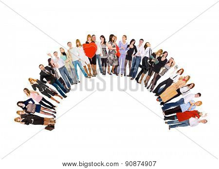 Corporate Teamwork Isolated Groups