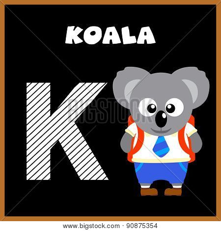 The English alphabet letter K