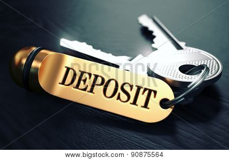 Deposit written on Golden Keyring.
