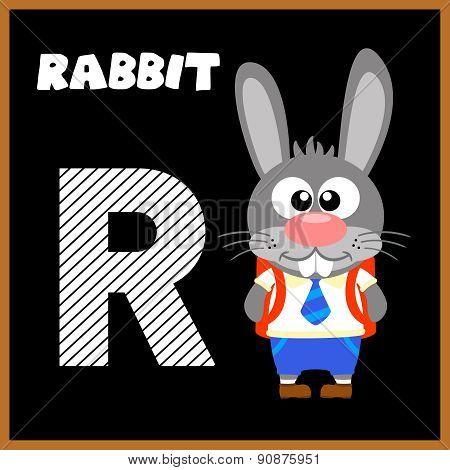 The English alphabet letter R