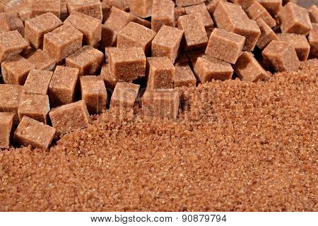 Brown Granulated And Refined Sugar