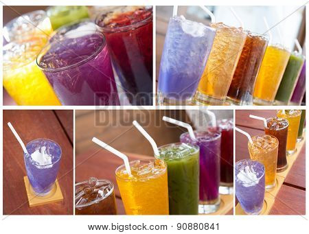 Set Of Colorful Soft Drink