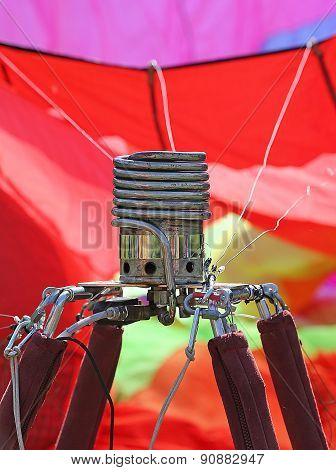 Gas Stove To Heat The Air In The Giant Balloon