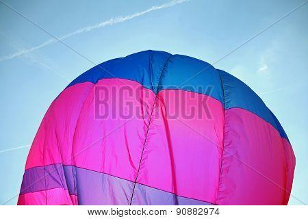 Colorful Hot Air Balloon Flies