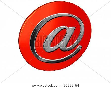 mail with a red round