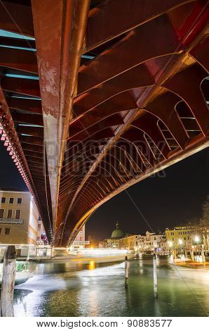The Constitution Bridge, landmark of Venice