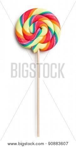swirl lollipop on white background