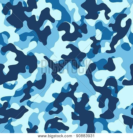 Sea Camouflage Seamless Pattern