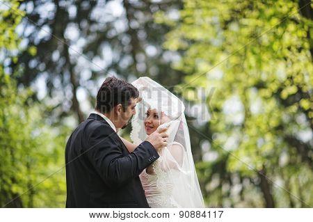 Wedding Couple With Bokeh