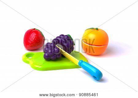 Plastic Fruits Cut In Half