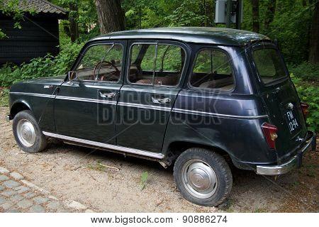 Vintage Renault 4 (R4) hatchback - back view