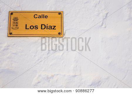Street name plaque