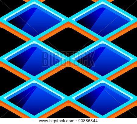 Bright urban futuristic cells seamless pattern