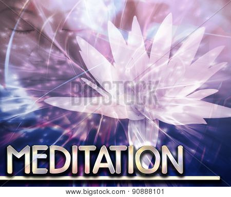 Abstract background digital collage concept illustration meditation contemplation