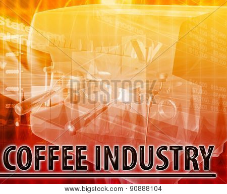 Abstract background digital collage concept illustration coffee industry